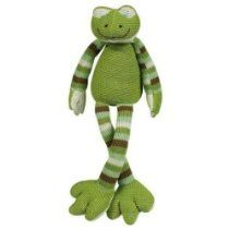 "Maison Chic Frog Green Cuddly Knit 12"" Musical Toy"