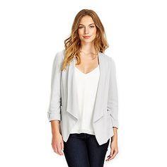 Wallis Grey stud pocket jacket- | Debenhams