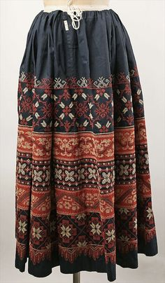 Costume ★ Russian Embroidered Skirt