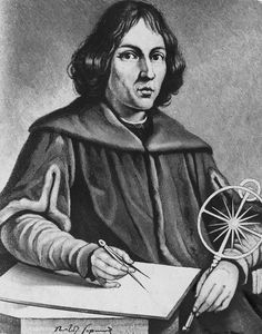 Engraving of Polish astronomer Nicolaus Copernicus (1473-1543) who elaborated a new system of astronomy which challenged man's outlook on the universe.