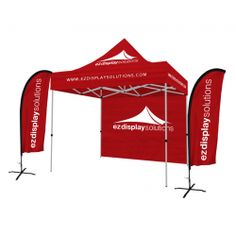 Get your customized tent display packages for outdoor display on any events available one and two feather flags shop now!  sc 1 st  Pinterest & Tent frame with Canopy and One Feather Flag | Tent Display ...