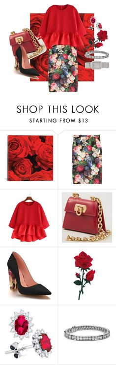 """""""Valentine's Day"""" by fashion4everyone ❤ liked on Polyvore featuring iCanvas, J.Crew, Salvatore Ferragamo, Shoes of Prey, Blue Nile and Piaget"""