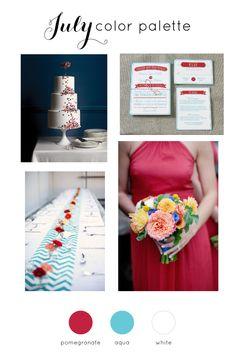 July Wedding Color Palette