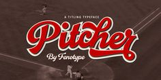 Pitcher font family by Fenotype