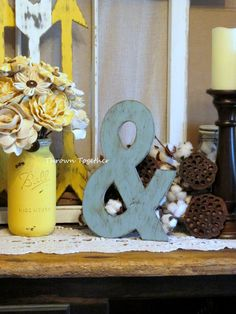 Ampersand Wall Decor turquoise and coral baby shower wall decorations | coral & aqua