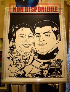 Fernando e Irene, 2012 Fernando and Irene  Acrilico su tela / Acrylic on canvas 120 X 100 cm    NON DISPONIBILE / NOT AVAILABLE