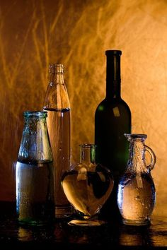 Down by the Crooked Tree. Glass Photography, Still Life Photography, Crooked Tree, Not My Circus, Still Life Photos, Bottles And Jars, Antique Glass, Light And Shadow, Painting Inspiration