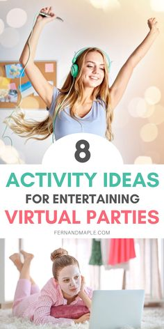 Having a virtual party or celebration doesn't have to be boring! These 8 creative Activity Ideas will inspire you to have a fun and entertaining virtual party with friends or family members from afar. Get details now at fernandmaple.com!