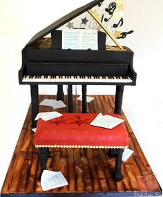 Bar Mitzvah Baby Grand Piano Cake | http://blog.pinkcakebox.com/bar-mitzvah-baby-grand-piano-cake-2012-09-22.htm: