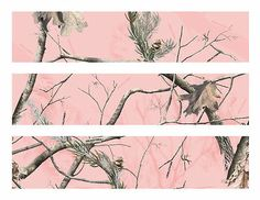 Pink Realtree Camo edible cake strips cake topper decorations