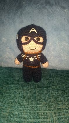 Crochet Captain USA America  Avengers 6 sci-fi by CLASSYCHASSISUK