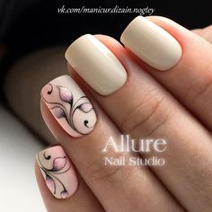 Opting for bright colours or intricate nail art isn't a must anymore. This year, nude nail designs are becoming a trend. Here are some nude nail designs. Nude Nails, White Nails, My Nails, Acrylic Nails, Spring Nail Art, Spring Nails, Summer Nails, Flower Nail Designs, Nail Art Designs