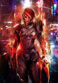 Mass Effect - FemShep  N7 Omega by muju.deviantart.com on @deviantART
