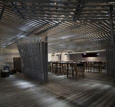 Ideas de #Contract de #Cafeteria, #Comedor, #Bar, estilo #Moderno diseñado por Q:NØ ARQUITECTOS Arquitecto con #Accesorios #Sillas #Mesas de comedor #Iluminacion #Pergola #Taburetes  #CajonDeIdeas