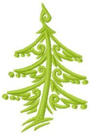 Christmas tree free embroidery design. Machine embroidery design. www.embroideres.com