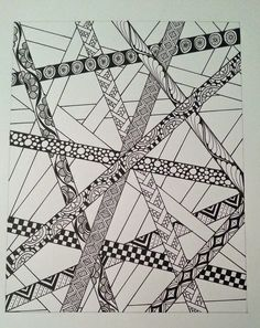 Judy's Zentangle Creations: Pick up Sticks Doodle Patterns, Zentangle Patterns, Zentangles, Zen Doodle, Doodle Art, Pick Up Sticks, Doodle Drawings, Coloring Pages, Doodles