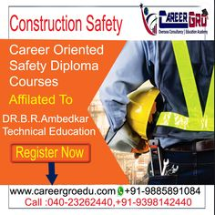Get Best Coaching For #ConstructionSafety Courses in #Hyderabad. Affiliated To Dr.B.R Ambedkar University, Batches Starting Soon. Contact Us Call:040-23262440,+91-9398142440. Visit Us :www.careergroedu.com #Study #Fireandsafety #Hyderabad #IOSH #NEBOSH #NASP #OSHA. #Education Reading Tips, Reading Skills, College Test, Top Course, Construction Safety, Diploma Courses, Current Generation, Overseas Education, Ielts