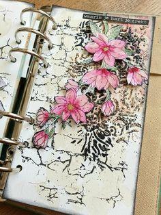 Art Journal Pages, Art Journals, Junk Journal, Filofax, Make Your Own Card, Elizabeth Craft Designs, Bullet Journal Writing, Paper Flower Tutorial, Scrapbook Journal