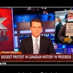 Funny pictures about Canadian protest. Oh, and cool pics about Canadian protest. Also, Canadian protest photos. Really Funny, The Funny, Funny Signs, Funny Memes, Meanwhile In Canada, Thursday Humor, Def Not, The Lone Ranger, Canadian History