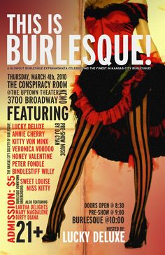 vintage burlesque posters - Google Search