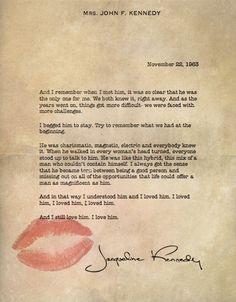 More Than Sayings: Mrs. John F. Kennedy