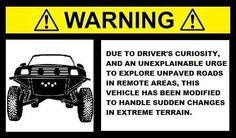 preerunner decals | arning Prerunner Desert Racing 4x4 Truck Baja Decal