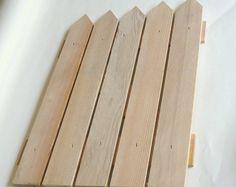 Unfinished Wood Craft Supplies Picket Fence by VikisVarietyCraft, $2.00