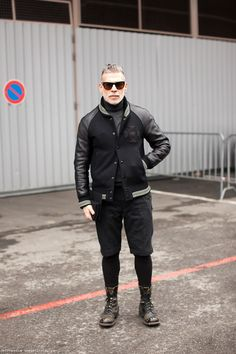 Nick Wooster-woolen leggings.