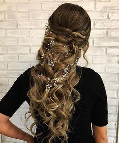 Menyasszonyi hajfüzér 100cm Long Hair Styles, Wedding, Beauty, Mariage, Beleza, Long Hairstyle, Weddings, Long Hairstyles, Long Hair Cuts