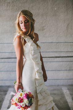 Wedding Dress: Coren Moore Bridal via The White Dress by the Shore, Clinton, CT