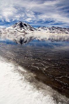 Miñiques Lagoon, Antofagasta Region, Chile.