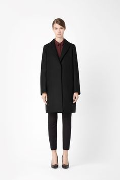 COS peaked lapel wool coat