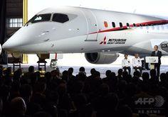 初の国産ジェット旅客機「MRJ」を初公開 Japan's first jet aircraft, MHI and Mitsubishi Aircraft are now ready to proceed toward the MRJ's first flight scheduled for the April-June quarter of 2015.