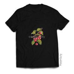 Cherries T Shirt #tshirt #tshirts #clothing #fashion #blacktees #fruitdesign