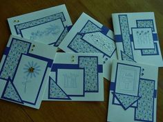 Handmade note cards-set of 6-blank cards-just a note-all by ihunt www.etsy.com/shop/ihunt