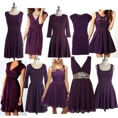 dark purple chiffon bridesmaid dresses unique rhinestones and ...
