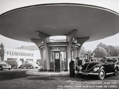 Tankstelle bei Fleischhauer, Fröbelstr., 50823 Köln - Ehrenfeld (1955)