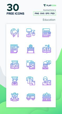 30 Education icons for personal and commercial use. Meticulous Gradient icons. Download now free icon pack from Flaticon, the largest database of free vector icons. #Flaticon #icons #teacher #education #school #college