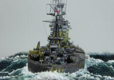 H.M.S. Nelson, Tamiya, 1/700.