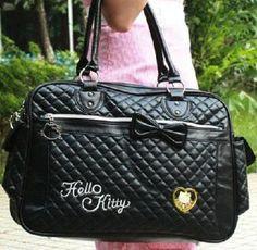 Black LARGE Hello Kitty Tote Handbag/Luggage