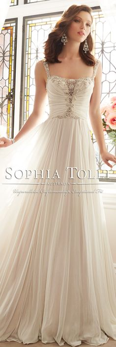 The Sophia Tolli Spring 2016 Wedding Dress Collection - Style No. Y11644 - Talulla #chiffonweddingdress