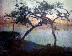 John Russell - Idyll Australian Painting, Australian Art, John Peter, John Russell, Tree Art, Art Market, Painting Inspiration, It Works, Contemporary Art