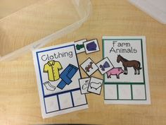 sorting items into categories - with a link to free printables