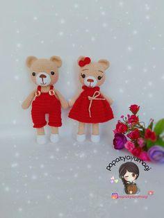 crochet teddy bears amigurumi-ayicik-dody-ve-dodo-yapimi Knitted Teddy Bear, Crochet Teddy, Crochet Bear, Big Stuffed Animal, Crochet Dog Patterns, Teddy Bear Baby Shower, Bunny And Bear, Baby Girl Toys, Bear Doll