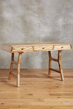 Carved Inlay Writing Desk - anthropologie.com