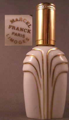 Limoge Purse bottle by Marcel Franck Perfume Bottle by Lindymause (pretty bottle)