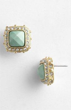 BP. Rhinestone Frame Post Earrings