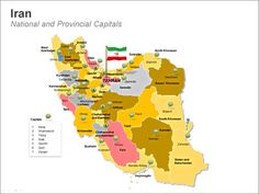 Iran - National and Provincial capitals http://www.24point0.com/product-reviews-and-applications/editable-iran-maps-visually-rich-ppt-presentations/