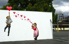 Love from Above, street art by Above