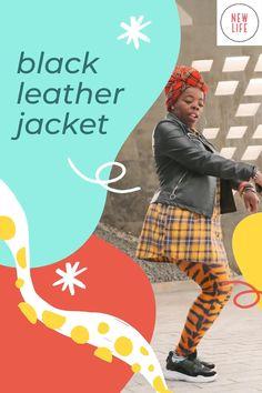 New Life, Ronald Mcdonald, Black Leather, Leather Jacket, Jackets, Studded Leather Jacket, Down Jackets, Leather Jackets, Jacket